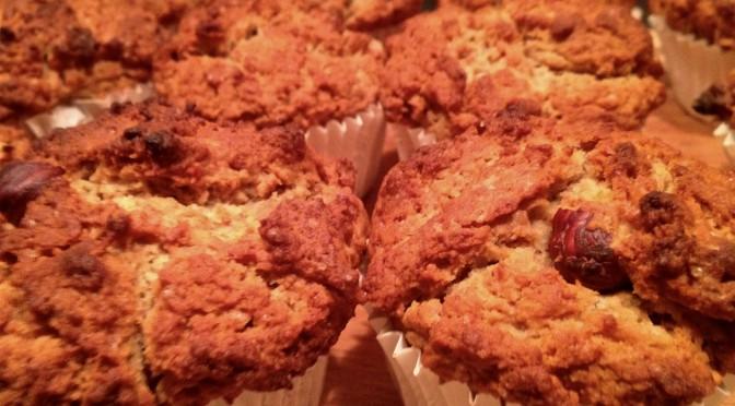Muffiny orzechowo-orzechowe